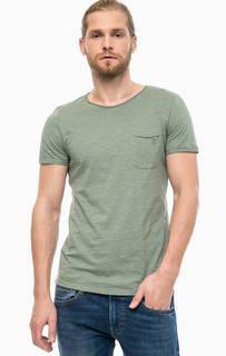 Хлопковая футболка с карманом Tom Tailor Denim