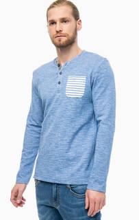 Синяя футболка из плотного трикотажа Tom Tailor