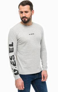 Серая футболка с длинными рукавами Diesel