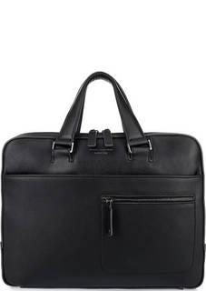 Кожаная сумка через плечо с карманами Piquadro