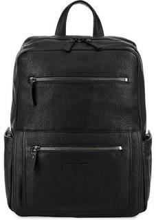 Кожаный рюкзак с одним отделом и карманами Piquadro