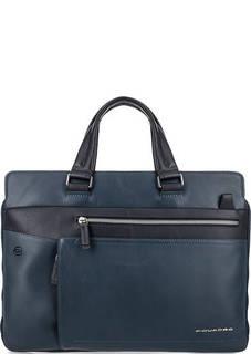 Кожаная сумка со съемным плечевым ремнем Piquadro