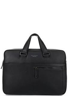 Вместительная кожаная сумка с карманами Piquadro