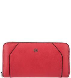 Кожаный кошелек красного цвета Piquadro