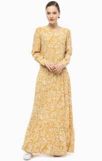 Длинное платье из вискозы Stefanel