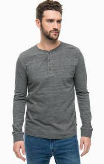 Плотная хлопковая футболка с длинными рукавами Scotch&Soda