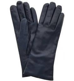 Синие кожаные перчатки с шерстяной подкладкой Bartoc