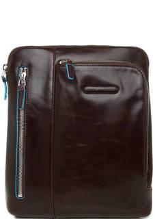 Маленькая сумка коричневого цвета на молнии Piquadro