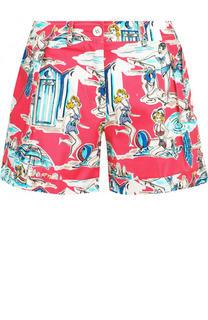 Хлопковые мини-шорты с принтом Blugirl