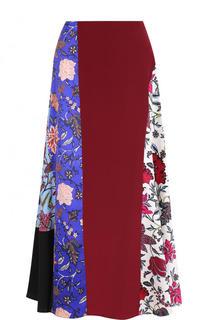 Шелковая юбка-миди с принтом Diane Von Furstenberg