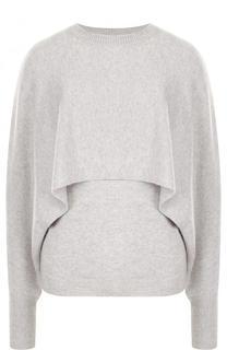 Однотонный кашемировый пуловер с оборкой Chloé