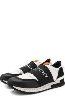 Комбинированные кроссовки с широкой эластичной лентой Givenchy
