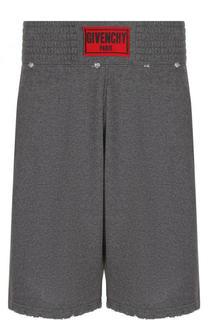 Хлопковые шорты с логотипом бренда Givenchy