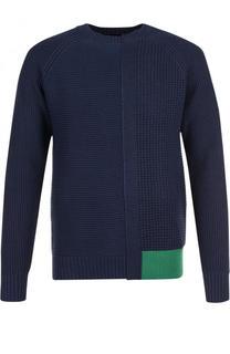 Пуловер фактурной вязки с круглым вырезом Diesel