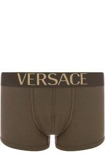 Хлопковые боксеры с широкой резинкой Versace