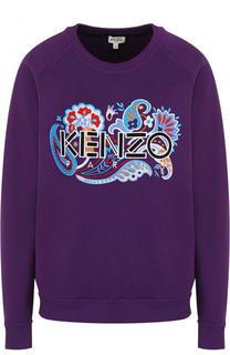 Хлопковый свитшот свободного кроя с логотипом бренда Kenzo