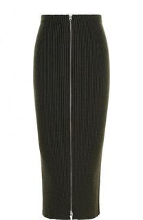 Юбка-карандаш фактурной вязки из смеси шерсти и хлопка Mm6