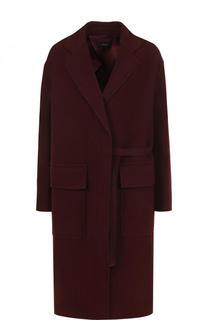Однотонное пальто из смеси шерсти и кашемира Joseph