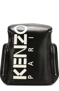 Кожаный рюкзак с логотипом бренда Kenzo