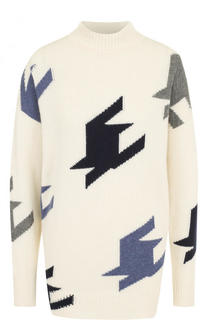 Кашемировый свитер свободного кроя с высоким воротником Victoria Beckham