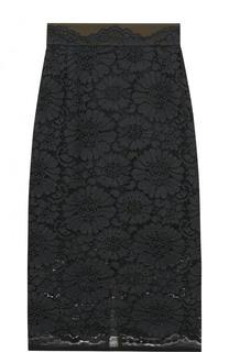 Однотонная кружевная юбка-миди Dorothee Schumacher