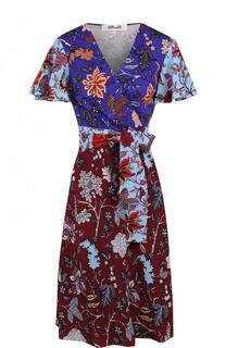 Приталенное шелковое мини-платье с запахом Diane Von Furstenberg