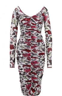 Драпированное платье-футляр с принтом Diane Von Furstenberg