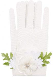Перчатки фактурной вязки с декоративной отделкой Aletta