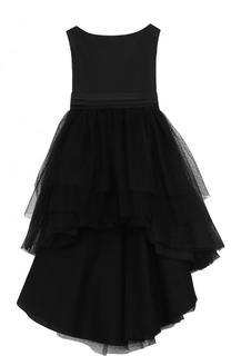 Платье с пышной юбкой и бантом на спинке Aletta