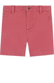 Однотонные хлопковые шорты Polo Ralph Lauren
