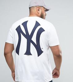 Удлиненная футболка Majestic PLUS New York Yankees - Белый