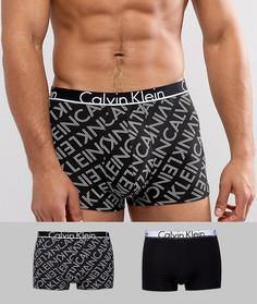 2 боксеров-брифов с логотипом Calvin Klein ID - Черный