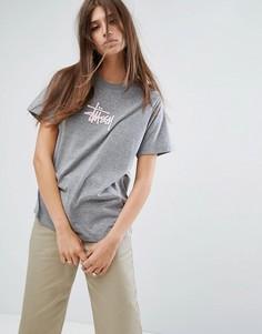 Оверсайз-футболка с логотипом Stussy - Черный