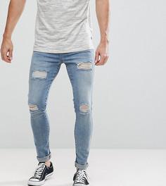 Обтягивающие джинсы с заплатками Brooklyn Supply Co - Синий