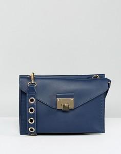 Структурированная сумка через плечо Yoki - Темно-синий