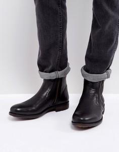 Черные кожаные ботинки на молнии Steve Madden Lydon - Черный