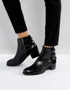 Кожаные ботинки с пряжками H by Hudson - Черный