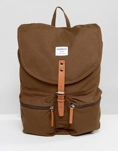 Рюкзак цвета хаки Sandqvist Roald - Зеленый