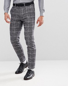 Облегающие брюки в клетку Moss London - Серый