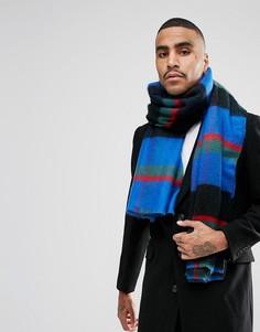 Сине-зеленый шарф в полоску ASOS - Зеленый