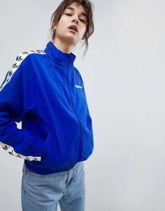 Спортивная куртка с отделкой тканой лентой Adidas Originals Iconics - Синий