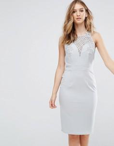 Облегающее платье с отделкой Little Mistress - Синий