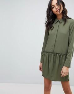 Платье-рубашка с заниженной талией Vila - Зеленый