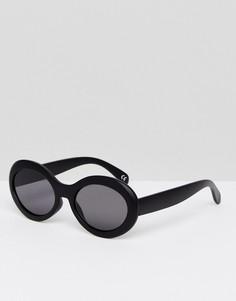 Большие солнцезащитные очки в черной матовой оправе ASOS - Черный