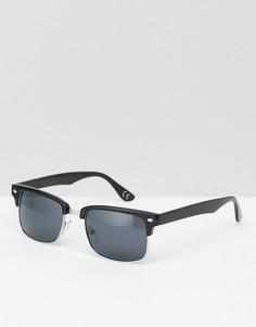 Черные квадратные солнцезащитные очки в стиле ретро ASOS - Черный