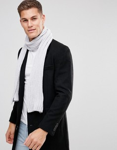 Серый вязаный шарф ASOS - Серый
