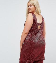 Платье-футляр с пайетками и V-образным вырезом на спине Elvi - Красный