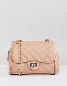 Маленькая стеганая сумка через плечо Marc B Knightsbridge - Бежевый