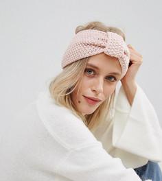 Вязаная повязка на голову Willow and Paige - Розовый