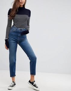 Узкие выбеленные джинсы в винтажном стиле с завышенной талией ASOS FARLEIGH - Синий